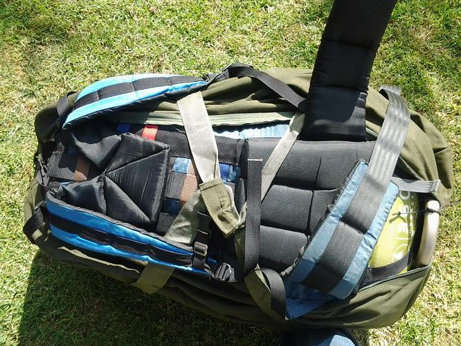 GBHB configured for toting straps open
