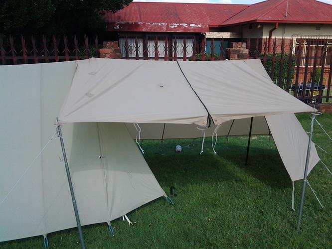 tent Backpacker kestrel 3 green with extention e veranda full opt
