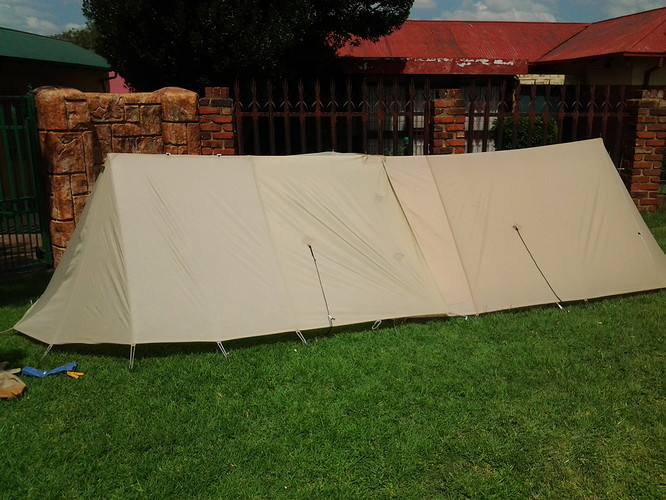 Tent Backpacker kestrel 2 f with extention back side