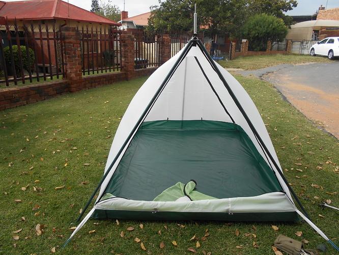 Tent Backpacker Kestrel 3 green front view